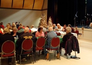 Volunteers of South Peace District Crime Prevention Association and guests enjoy food and fellowship at the 2015 Volunteer Appreciation Dinner November 28 at the Calvin Cruk Centre